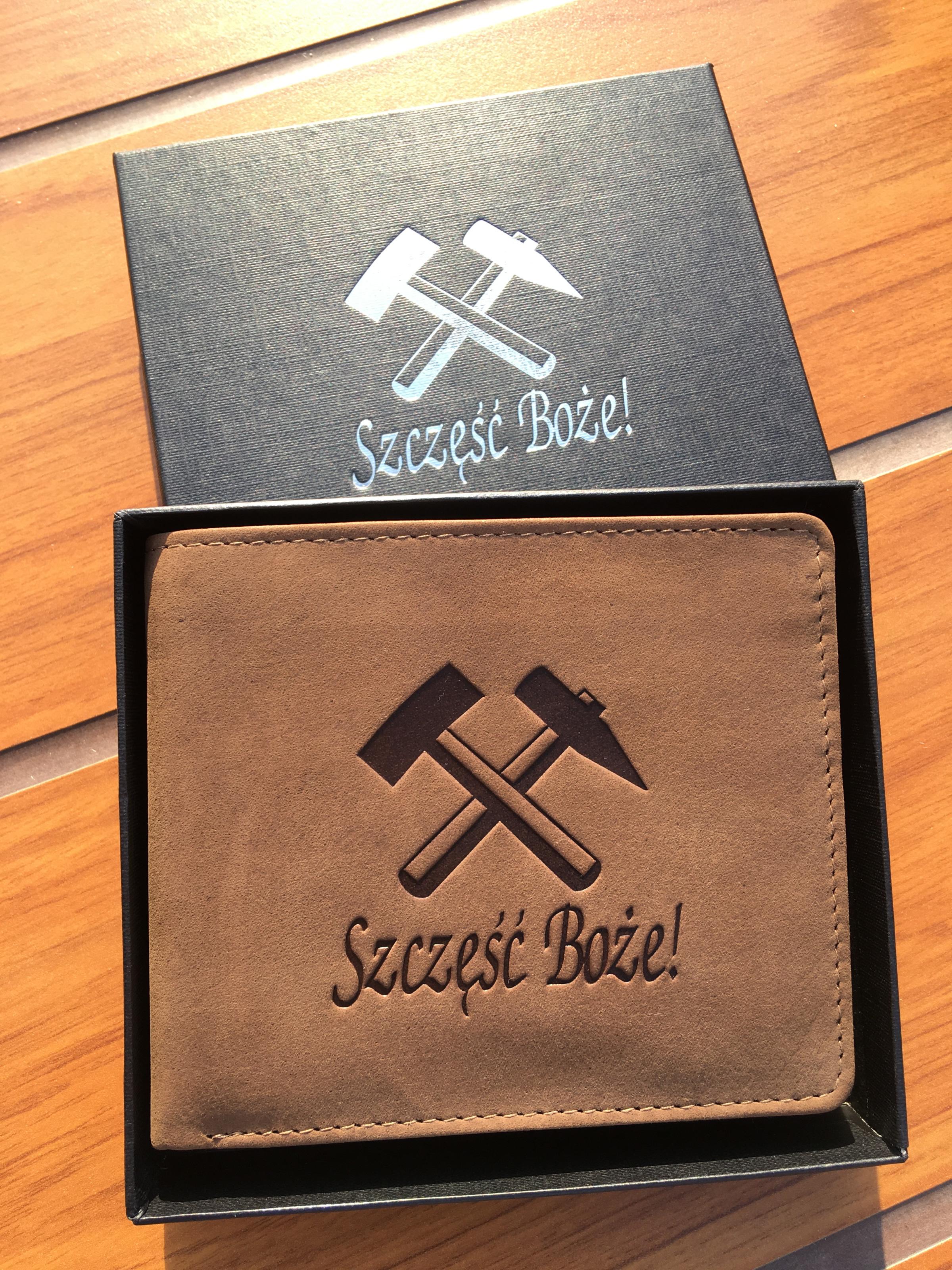 portfel dla górnika, portfel męski